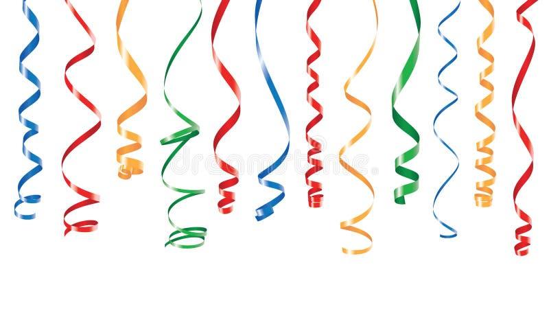 De lintenbanner van de kleurenpartij stock illustratie