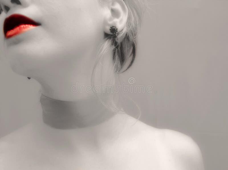 De lippen van de hartstocht stock foto