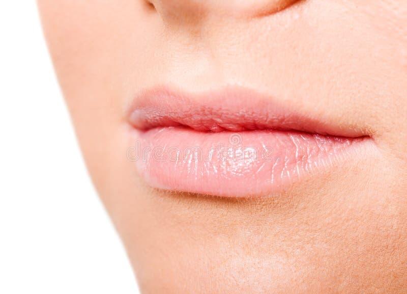 De Lippen van de vrouw stock afbeeldingen