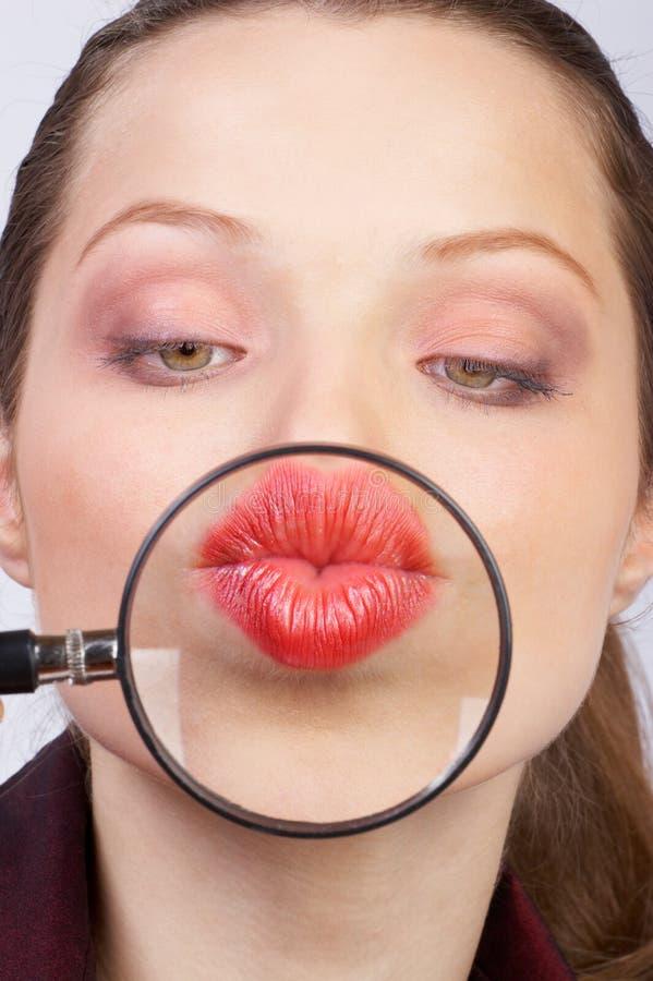 De lippen van de vrouw royalty-vrije stock foto