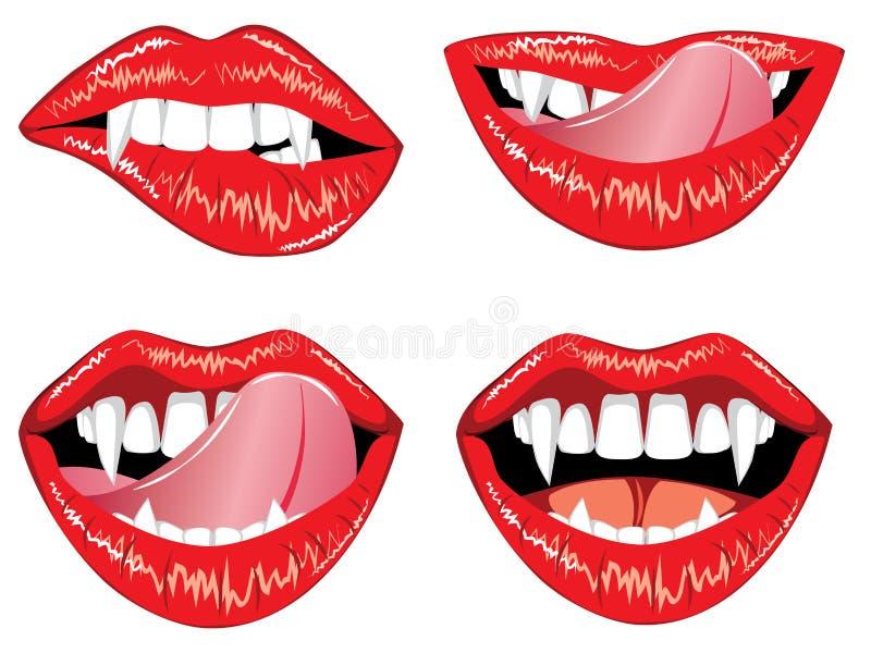 De lippen van de glamourvampier vector illustratie