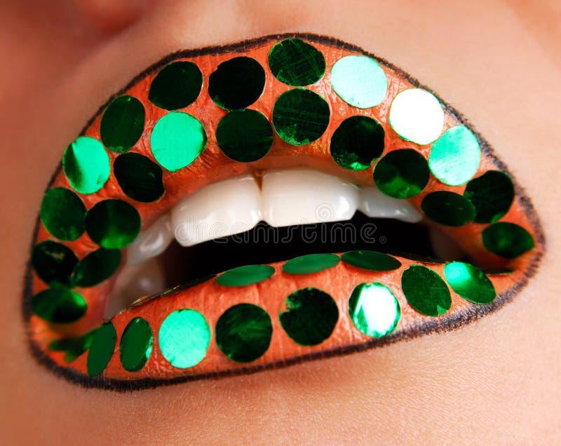 De lippen van het nieuwjaar stock afbeeldingen