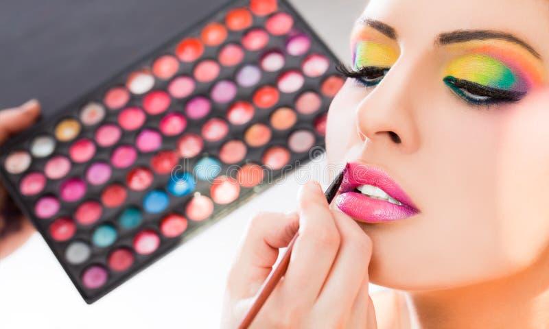 De lippenstift van de samenstelling stock foto