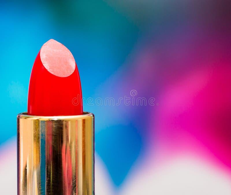 De lippenstiftschoonheidsmiddelen betekent de Schoonheidsproduct en Kosmetiek stock foto's