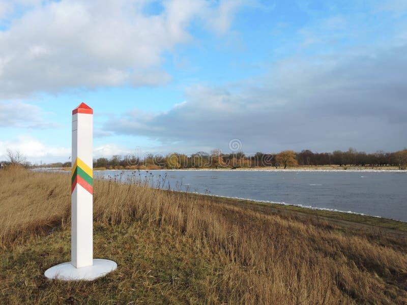 De Litouwse grens die staak merken royalty-vrije stock afbeelding