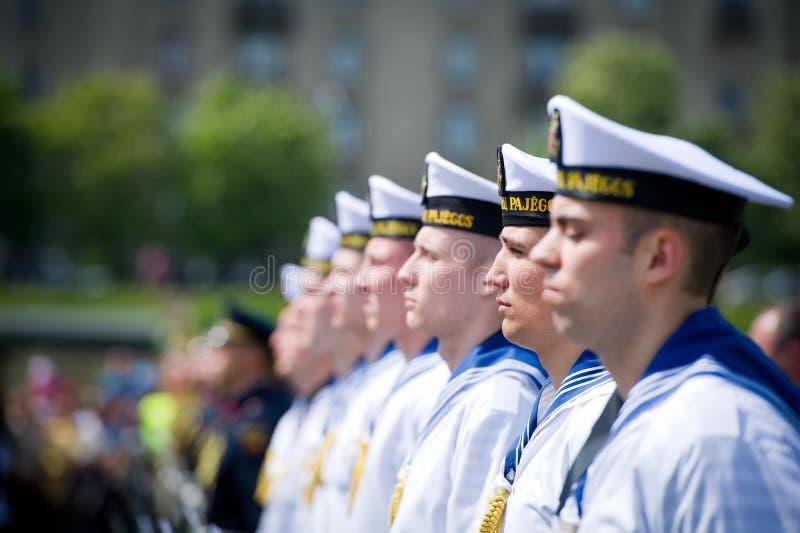 De Litouwse Marinemilitairen stock afbeeldingen
