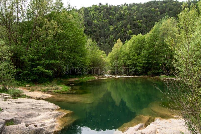 De Llobregat-rivier royalty-vrije stock foto's