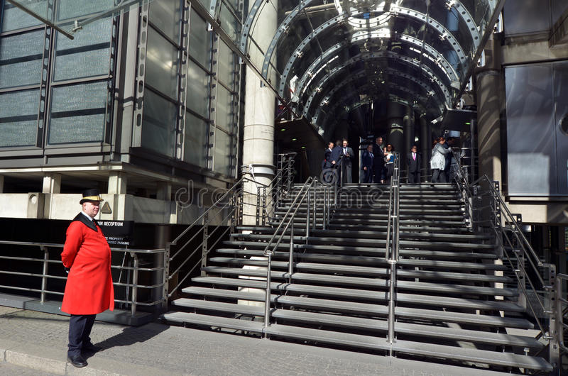 De Lloydsbouw in Stad van Londen, het UK royalty-vrije stock afbeelding