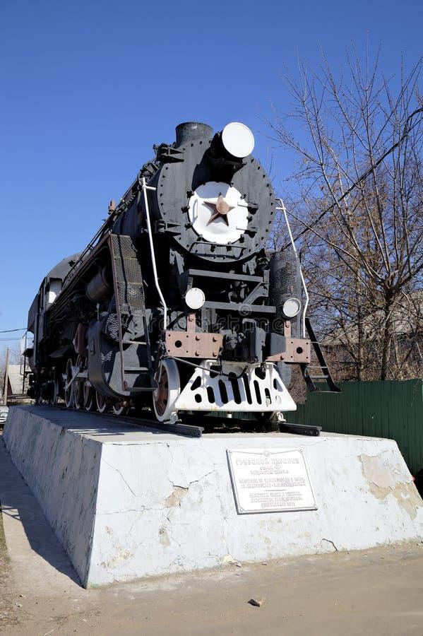 De locomotief van de ladingsstoom royalty-vrije stock foto's