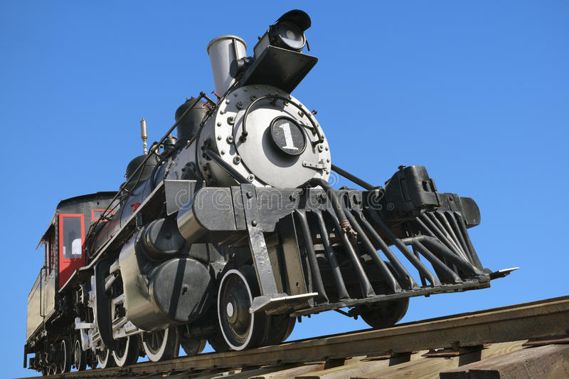 De locomotief van de Olspoorweg stock foto