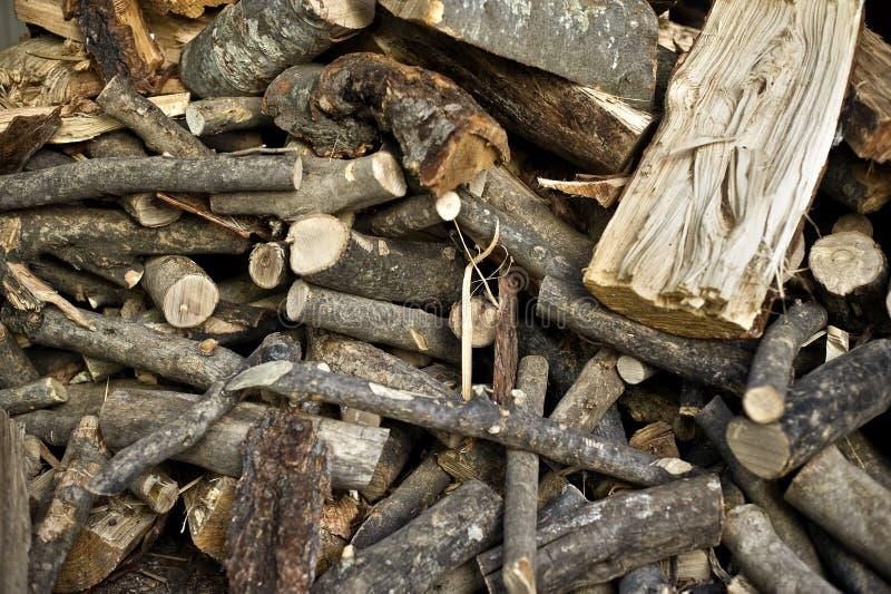 De logboeken van het brandhout. royalty-vrije stock afbeeldingen