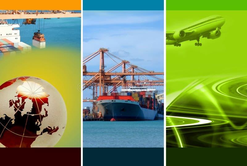 De Logistiek van de vracht stock illustratie