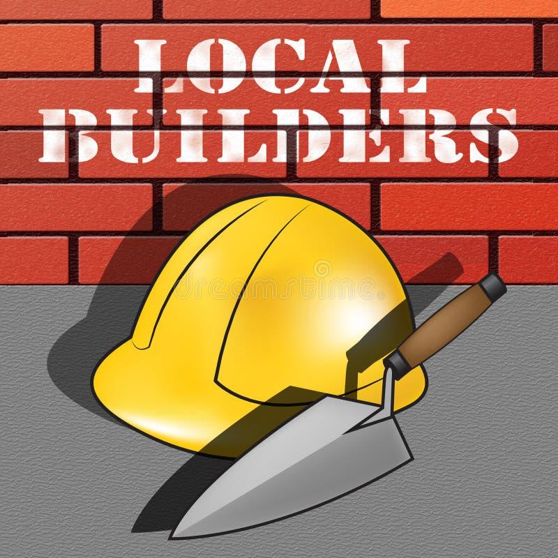 De lokale Bouwers vertegenwoordigt Buurtcontractant 3d Illustratio stock illustratie