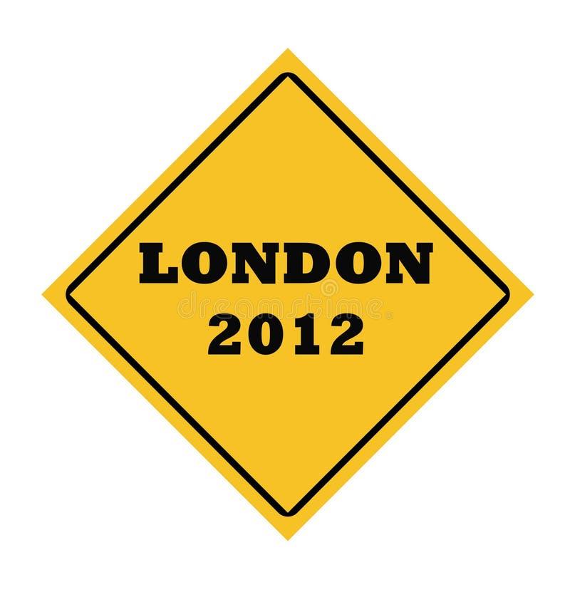 De Londres sinal 2012 de estrada ilustração royalty free