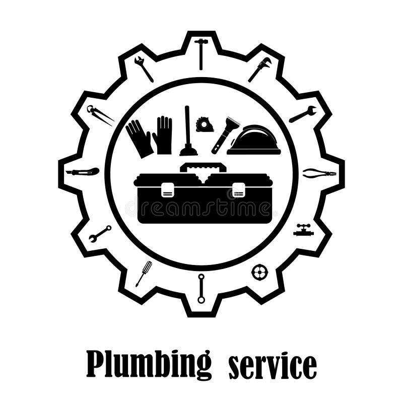 De loodgieterswerkdienst apparatuur royalty-vrije illustratie