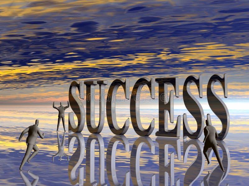 De looppas, de concurrentie voor succes. stock illustratie