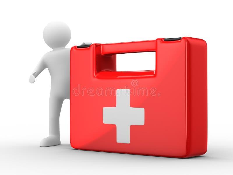 De looppas van de arts aan hulp vector illustratie