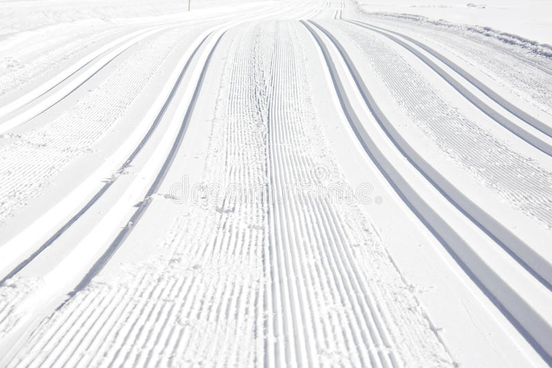 De looppas van de ski stock foto