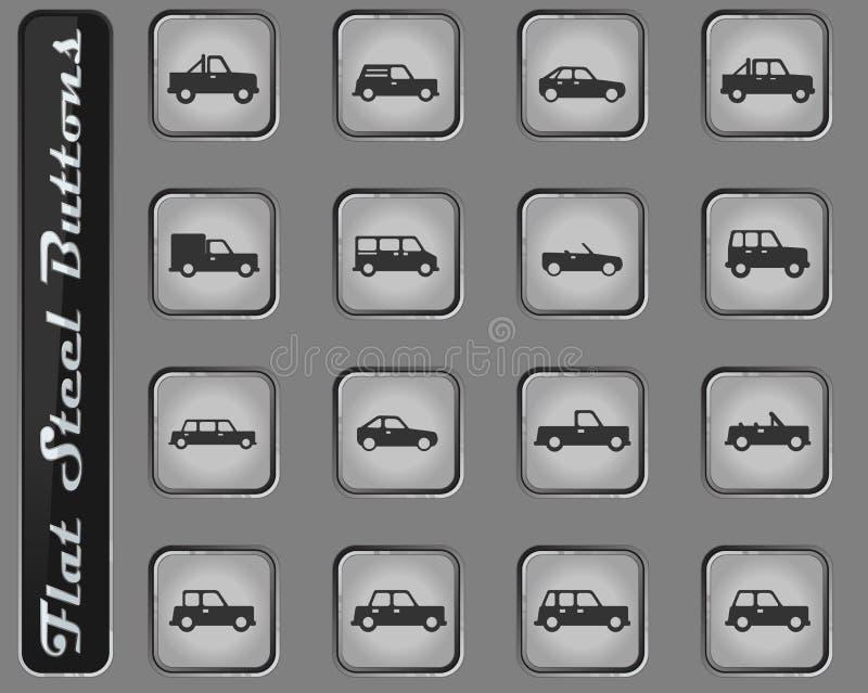 De los coches iconos simplemente ilustración del vector