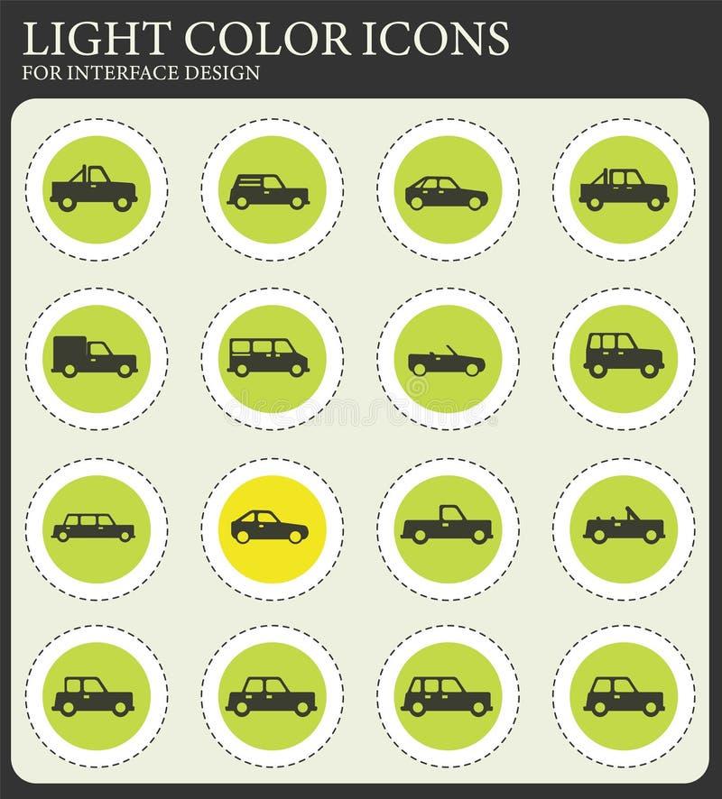 De los coches iconos simplemente stock de ilustración