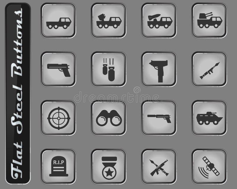 De los militares iconos simplemente ilustración del vector
