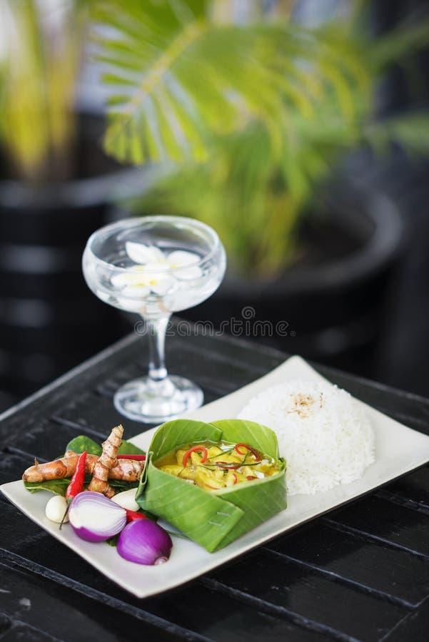 De los pescados curry tradicional camboyano amok imagen de archivo libre de regalías
