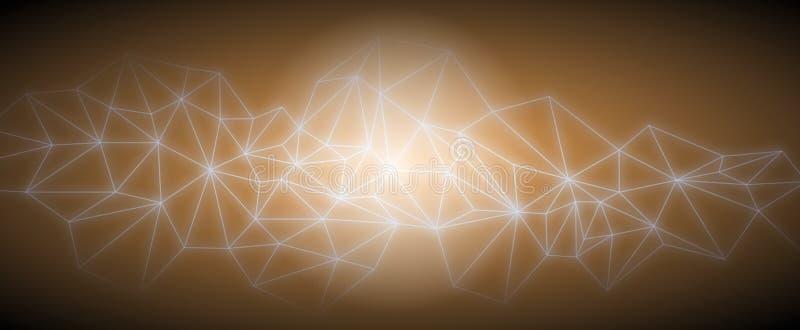 De los triángulos del espacio fondo oscuro polivinílico abstracto bajo libre illustration