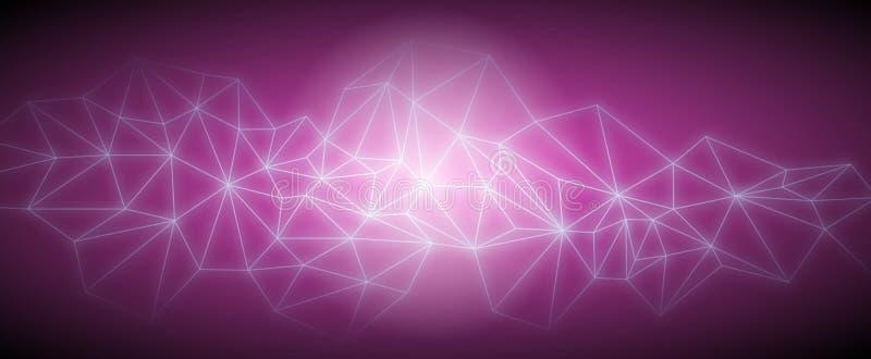 De los triángulos del espacio fondo oscuro polivinílico abstracto bajo ilustración del vector