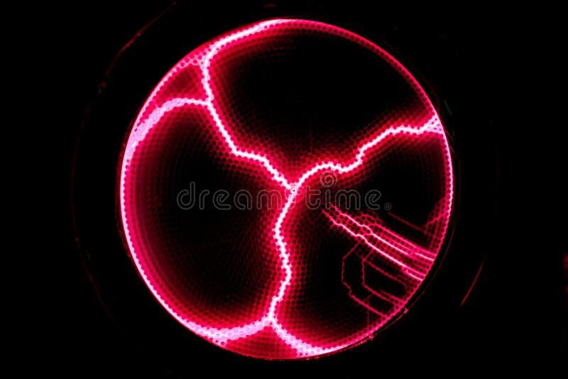 De lossing van de bliksemflits van elektriciteit op transparante backgrou stock illustratie