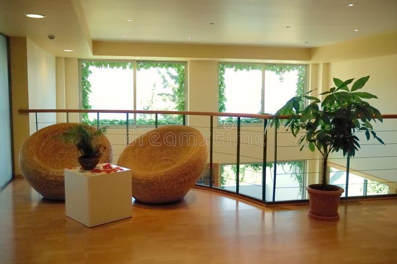 De lounge van het hotel royalty-vrije stock foto