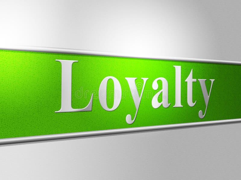 De loyaliteitloyaliteit wijst Trouw op Trouw en Steun stock illustratie