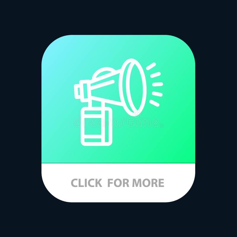 De lucht, Attributen, kan, waaien, de Knoop van de Hoornmobiele toepassing Android en IOS Lijnversie vector illustratie