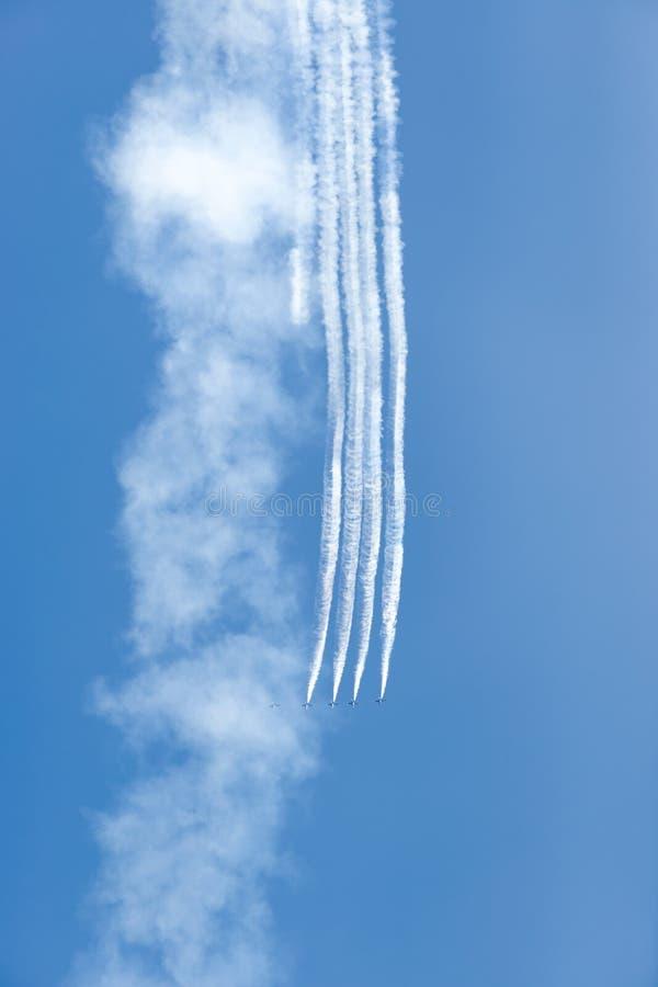 De Lucht en het Water van Chicago tonen, de Marineblauwe Engelen van de V.S. royalty-vrije stock fotografie