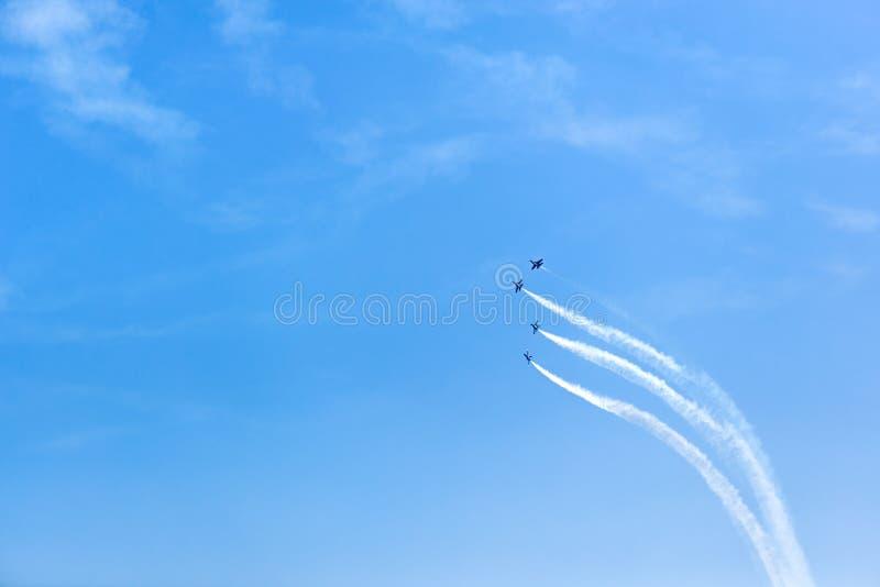 De Lucht en het Water van Chicago tonen, de Marineblauwe Engelen van de V.S. royalty-vrije stock foto