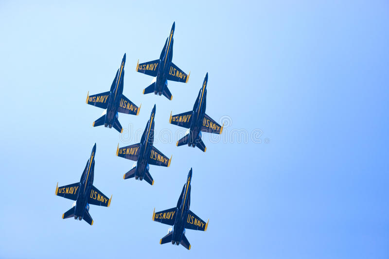 De Lucht en het Water van Chicago tonen, de Marineblauwe Engelen van de V.S. stock afbeeldingen