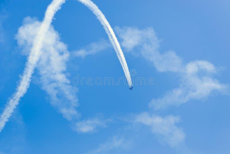 De Lucht en het Water van Chicago tonen, de Marineblauwe Engelen van de V.S. royalty-vrije stock afbeelding