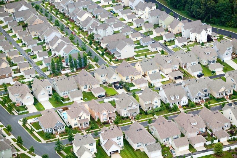 De lucht mening van huisvesting developmen stock fotografie