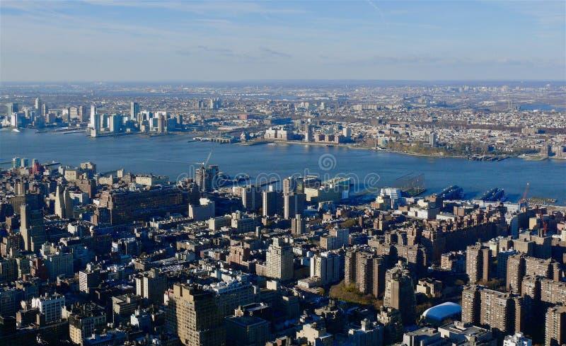 De lucht Stad van New York royalty-vrije stock afbeeldingen