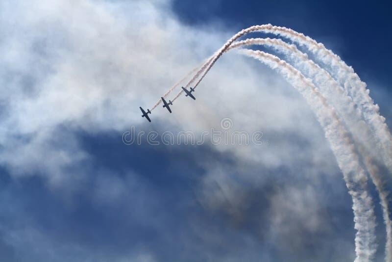 De lucht toont royalty-vrije stock foto