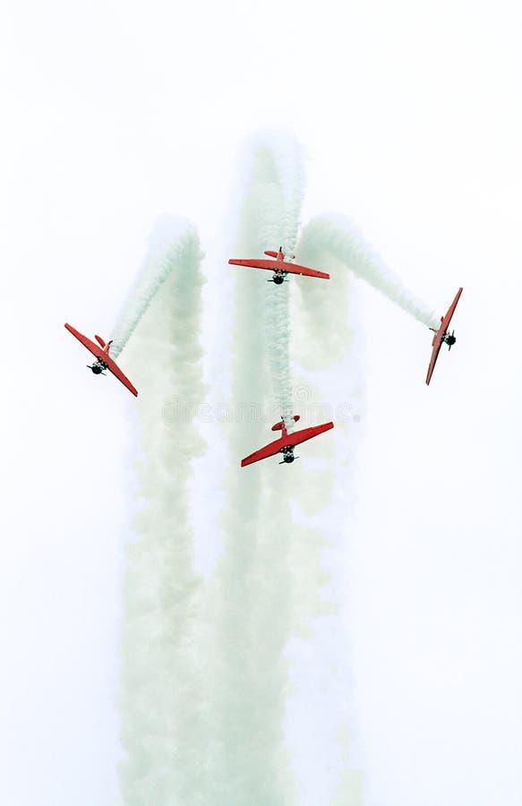De lucht toont stock afbeeldingen