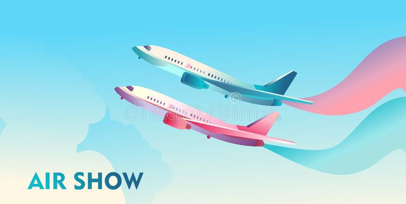 De lucht toont affiche vector illustratie