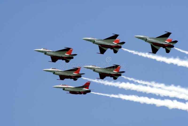 De lucht toont de vertoning van de Acrobatiek royalty-vrije stock afbeelding