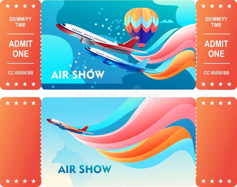 De lucht toont Kaartjes royalty-vrije illustratie