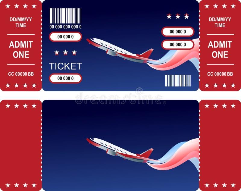 De lucht toont Kaartjes stock illustratie
