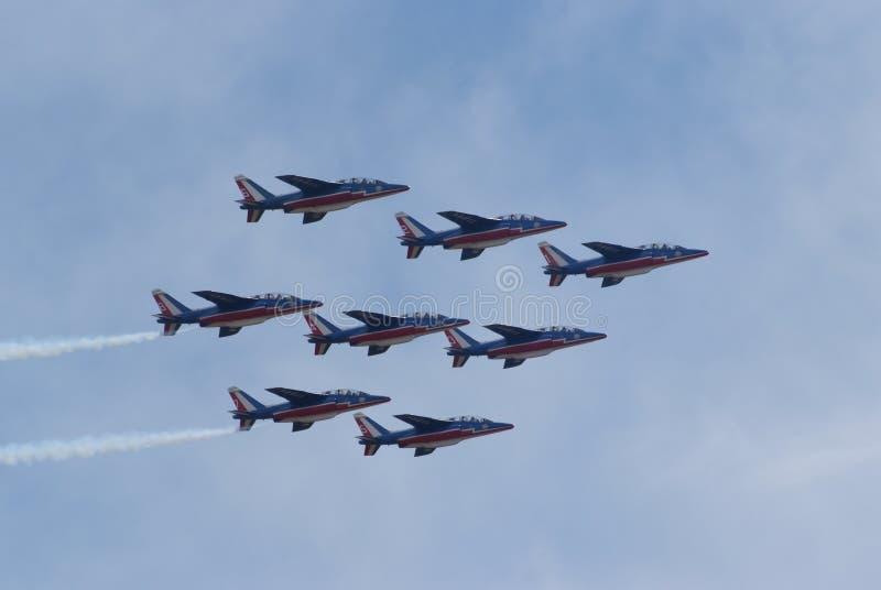 De lucht toont - Team 02 van Frankrijk stock fotografie