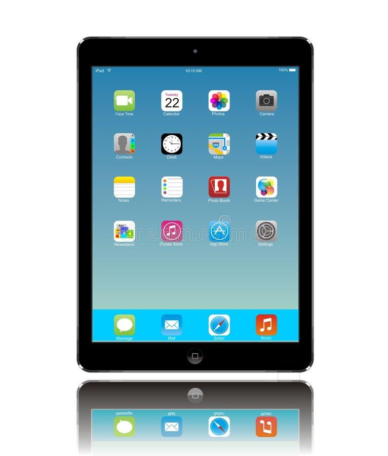 De Lucht van Apple iPad royalty-vrije illustratie