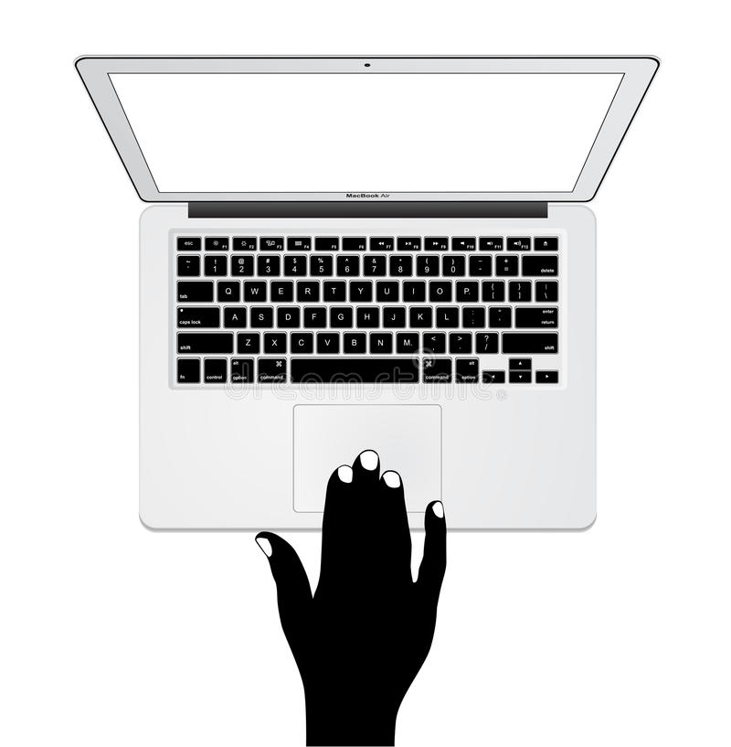 De Lucht van Apple MacBook stock illustratie