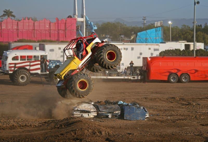De Lucht van de Vrachtwagen van het monster stock foto