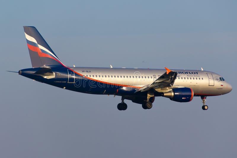 De Luchtbus van Aeroflot A320 royalty-vrije stock afbeelding