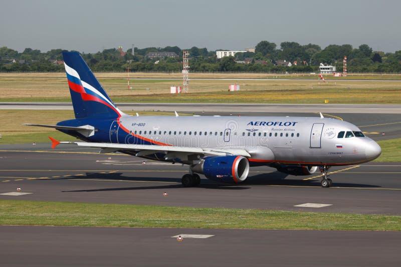 De Luchtbus van Aeroflot A319 royalty-vrije stock afbeelding